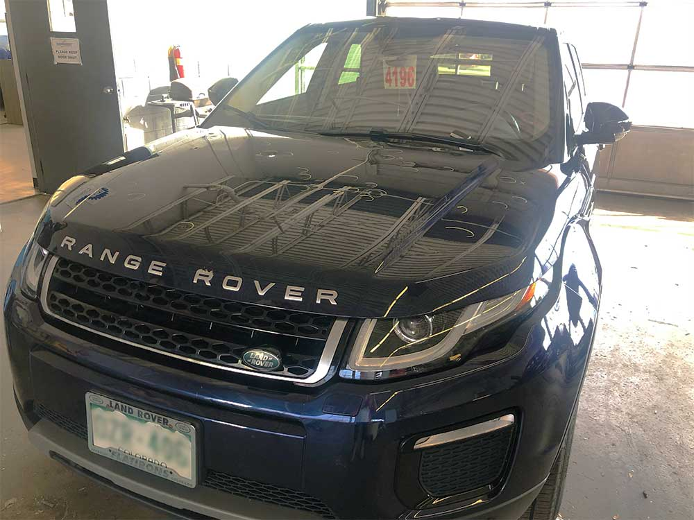 Range rover hail damage before fixed by StormWise