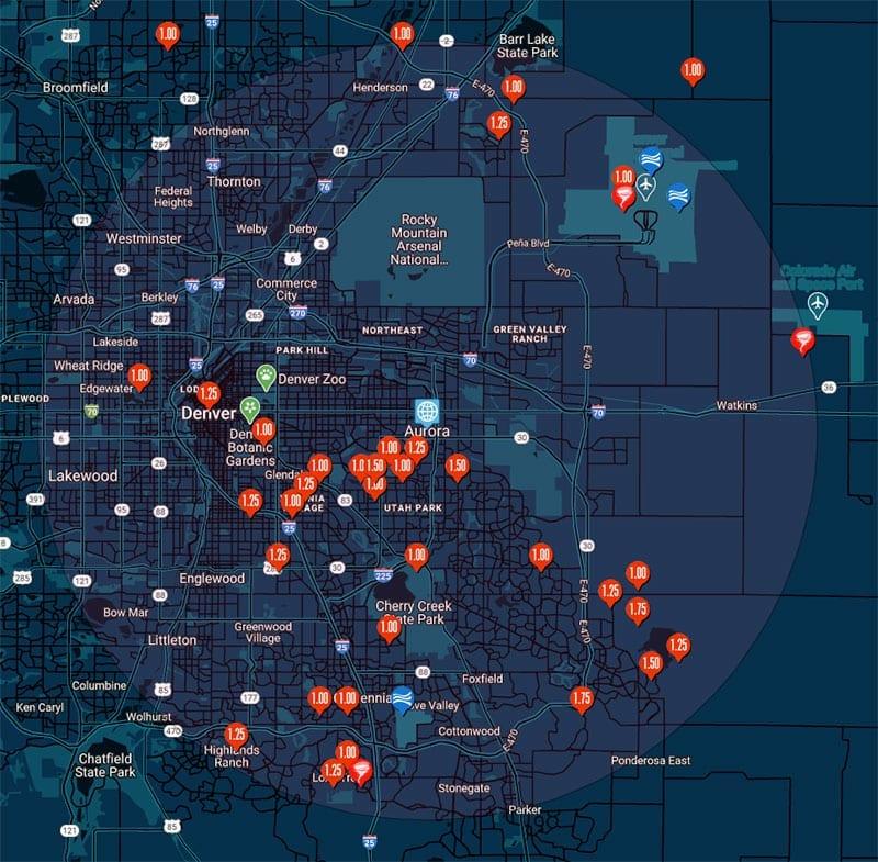 hail map in aurora colorado