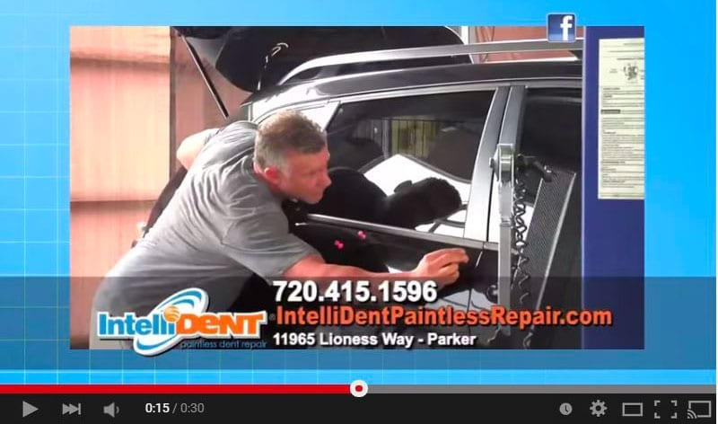 IntelliDent paintless dent repair commercial back in 2015
