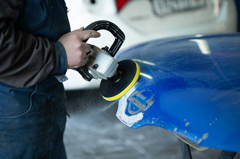 sanding to repair paint damage
