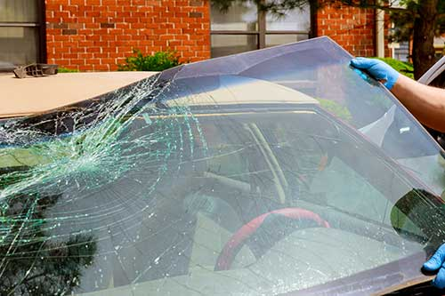 replace windshield damaged in a hailstorm