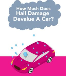 How much does hail damage devalue a car infographic thumbnail